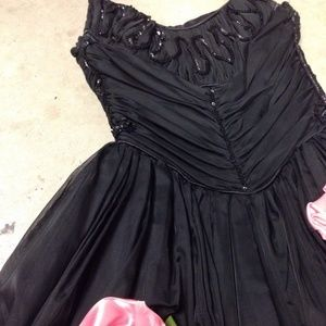Black with Roses Prom / Homecoming Formal Dress